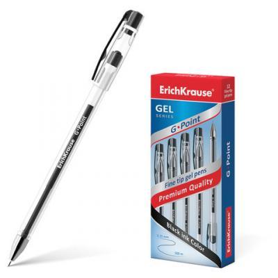 Ручка гелевая гелевая Erich Krause G-Point черный 0.25 мм гелевая ручка гелевая index 9073215121977 черный 0 50 мм