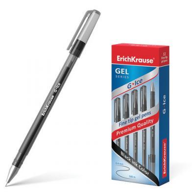 Ручка гелевая гелевая Erich Krause G-Ice черный 0.4 мм гелевая ручка erich krause g base красный 0 5 мм 30937