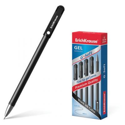 Ручка гелевая гелевая Erich Krause G-Soft черный 0.25 мм гелевая ручка erich krause g base красный 0 5 мм 30937