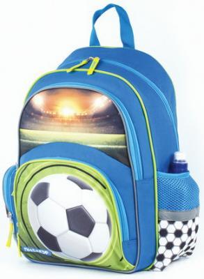 Купить Рюкзак ПИФАГОР+ для начальной школы, мальчик, Футбольный мяч, 40х30х15 см, 227936, синий, ткань, полиэстер, Ранцы, рюкзаки и сумки