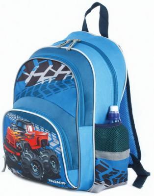 Купить Рюкзак ПИФАГОР+ для начальной школы, мальчик, Бигфут, 40х30х15 см, 227939, синий, ткань, полиэстер, Ранцы, рюкзаки и сумки