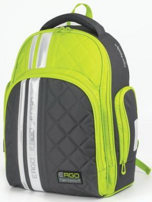 Купить Рюкзак TIGER FAMILY (ТАЙГЕР) с ортопедической спинкой для средней школы, серый/зеленый, 39х31х20 см, TGRW-006A, серый, зеленый, ткань, пенополиуретан, Ранцы, рюкзаки и сумки