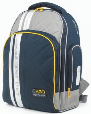 Купить Рюкзак TIGER FAMILY (ТАЙГЕР) с ортопедической спинкой для учеников средней школы, черный/серый, 39х31х20 см, TGRW-008A, черный, серый, полиэстер, Ранцы, рюкзаки и сумки