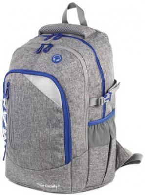 Рюкзак TIGER FAMILY (ТАЙГЕР) с ортопедической спинкой, молодежный, серый, 43х33х23 см, TMMX-007A цена