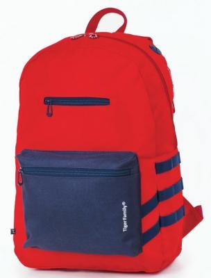 Рюкзак ручка для переноски Tiger Family Рюкзак молодежный 17 л красный