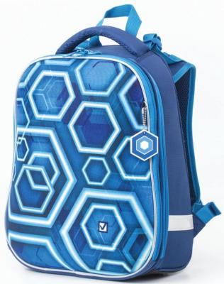 Ранец ортопедический BRAUBERG Техно 17 л синий школьные рюкзаки brauberg ранец коптер 17 л