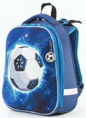 Ранец ортопедический BRAUBERG Футбол 17 л синий школьные рюкзаки brauberg ранец коптер 17 л