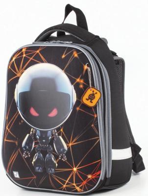 Ранец светоотражающие материалы BRAUBERG 17 л черный школьные рюкзаки brauberg ранец коптер 17 л