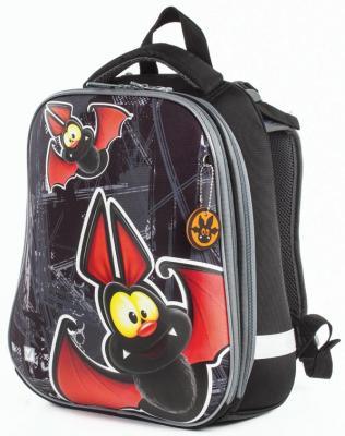 Ранец светоотражающие материалы BRAUBERG Летучая мышь 17 л серый школьные рюкзаки brauberg ранец динозавр 17 л