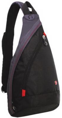 Рюкзак WENGER с одним плечевым ремнем, универсальный, черно-серый, 7 л, 45х25х15 см, 1092230 рюкзак wenger mono sling 1092 230 1092230
