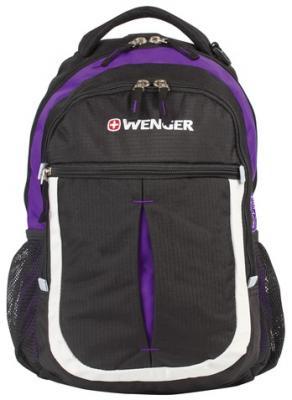 """все цены на Рюкзак ручка для переноски WENGER """"Montreux"""" 22 л фиолетовый черный онлайн"""