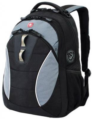 Рюкзак WENGER, универсальный, черный, серые вставки, 22 л, 32х15х46 см, 16062415 цена и фото
