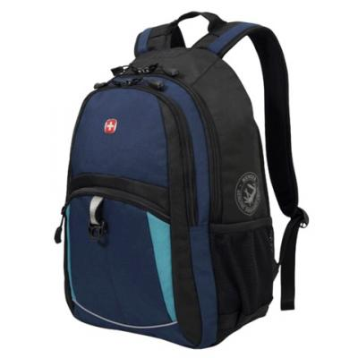 все цены на Городской рюкзак дышащая спинка WENGER универсальный 22 л сине-черный онлайн