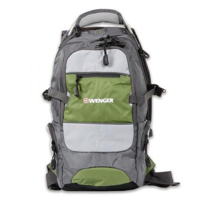 "Рюкзак для путешествий водонепроницаемый WENGER ""Narrow Hiking Pack"" 22 л серый зеленый цена и фото"