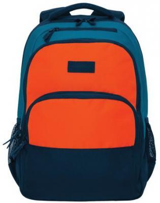 Рюкзак GRIZZLY универсальный, темно-синий/оранжевый, 32х45х23 см, RU-924-2/1 недорго, оригинальная цена