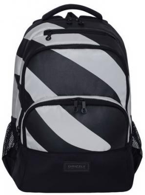 Рюкзак дышащая спинка GRIZZLY универсальный, 12.5 л черный светло-серый цена и фото