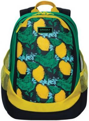 Купить Рюкзак GRIZZLY универсальный, для девушек, Лимоны, 29х40х20 см, RD-953-4/1, мультиколор, полиэстер, Рюкзаки