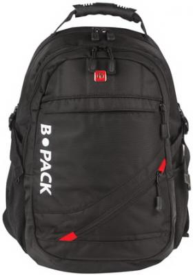 Купить Рюкзак B-PACK S-01 (БИ-ПАК) универсальный, с отделением для ноутбука, влагостойкий, черный, 47х32х20 см, 226947, полиэстер, Рюкзаки
