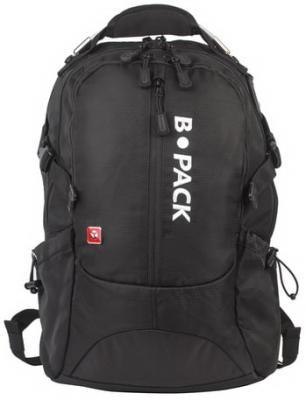 Купить Рюкзак B-PACK S-02 (БИ-ПАК) универсальный, с отделением для ноутбука, усиленная ручка, черный, 47х31х16 см, 226948, полиэстер, Рюкзаки