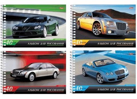 Фото - Альбом для рисования Hatber Престижные авто A4 40 листов авто