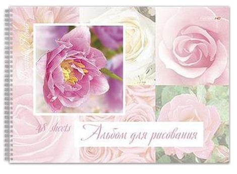 Альбом для рисования Hatber Цветы A4 48 листов