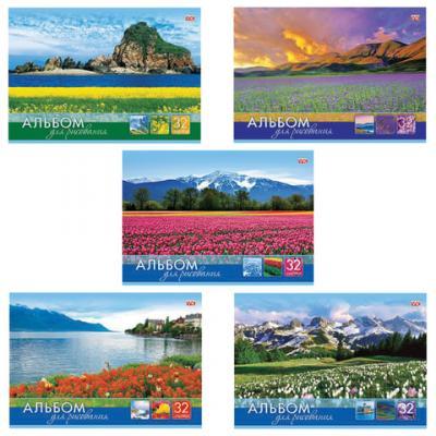 Альбом для рисования Hatber Мир в цветах A4 32 листа