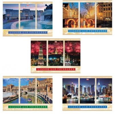 Альбом для рисования Hatber Города мира A4 40 листов цена и фото