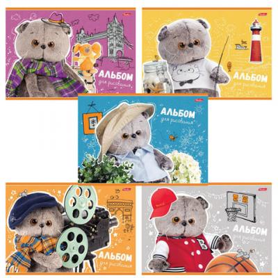 Альбом для рисования Hatber Кот Басик A4 20 листов альбом для рисования hatber верные друзья a4 12 листов