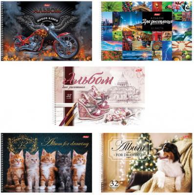 Альбом для рисования, А4, 32 л., спираль, обложка картон, HATBER Ассорти, 32А4Всп, A274705 защитное стекло zibelino для xiaomi mi a2 lite ztg xia mi a2 lit