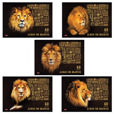 Альбом для рисования Hatber King Lion A4 40 листов альбом для рисования hatber любимцы 40 листов 18309