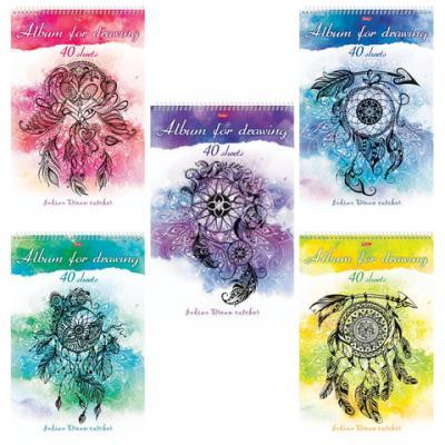 Альбом для рисования Hatber Ловец снов A4 40 листов альбом для рисования hatber любимцы 40 листов 18309