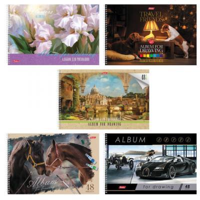 Купить Альбом для рисования Hatber Ассорти A4 48 листов