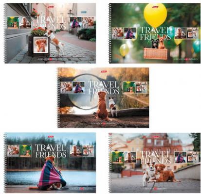 Купить Альбом для рисования, А4, 48 л., спираль, обложка картон, HATBER Путешествие друзей-1 , 48А4Всп, A274361