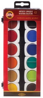 Краски акварельные художественные KOH-I-NOOR, 12 цветов, кроющие, без кисти, 017550400000 printio акварельные краски
