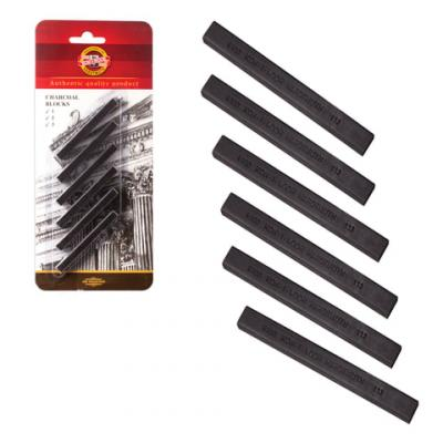 цены на Уголь художественный для рисования Koh-i-Noor Уголь прессованный 6 штук  в интернет-магазинах
