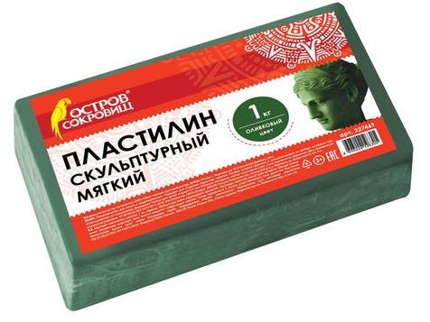 Пластилин ОСТРОВ СОКРОВИЩ скульптурный 1 цвет