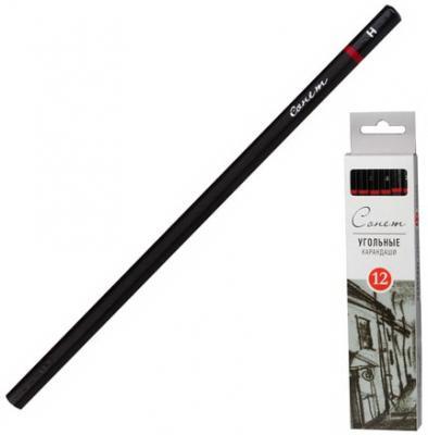 Уголь натуральный для рисования Сонет, набор 12 шт., мягкий, 12841430-S набор уголь художественный экстра для рисования диаметр 12 мм 4 шт
