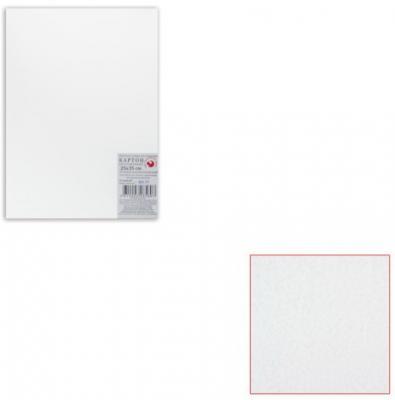 Белый картон грунтованный для живописи, 25х35 см, толщина 2 мм, акриловый грунт, двусторонний