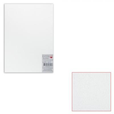 Белый картон грунтованный для живописи, 35х50 см, толщина 2 мм, акриловый грунт, двусторонний