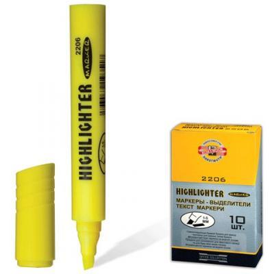 Текстмаркер Koh-i-Noor 1-5 мм желтый маркер лаковый koh i noor kin ширина линии письма 1 5 мм белый блистер 3305