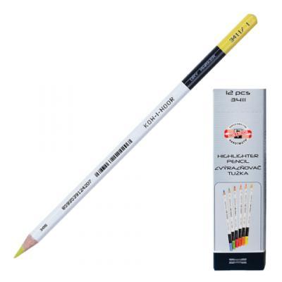 Текстмаркер-карандаш сухой Koh-i-Noor 3-3,8 мм желтый
