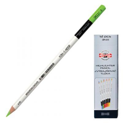 Текстмаркер-карандаш сухой Koh-i-Noor 3-3,8 мм зеленый