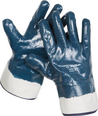 Перчатки ЗУБР рабочие с полным нитриловым покрытием, размер L (9) перчатки защитные boxer с облегченным нитриловым покрытием bxr2301sticker