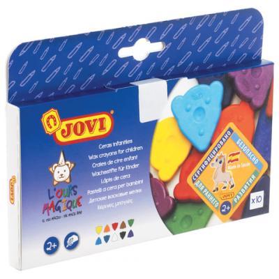 Восковые мелки Jovi Восковые мелки фигурные 10 цветов 10 штук от 2 лет мелки jovi classcolor цветные в коробке 10 шт