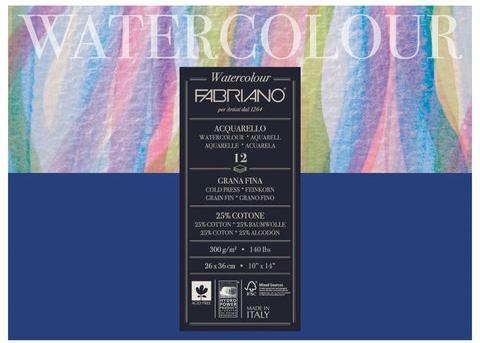 Фото - Альбом для акварели FABRIANO Watercolour Studio А3- 12 листов альбом для акварели fabriano watercolour 300 г м2 а6 10 5 х 14 8 см склейка с одной стороны 20 л