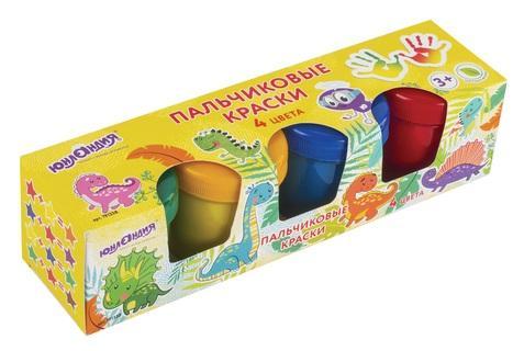 Купить Пальчиковые краски ЮНЛАНДИЯ Динозаврики 4 цвета, Прочие краски
