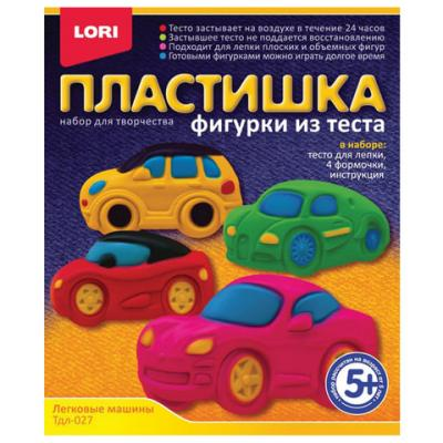 Набор для лепки из теста Lori Легковые машины 6 цветов масса для лепки abtoys радуга 5 цветов 18 предметов 118929