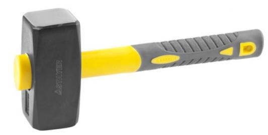 Кувалда с удлинённой фиберглассовой рукояткой 3 кг, STAYER Fiberglass-XL перчатки stayer master трикотажные 13 класс l xl 11409 h10