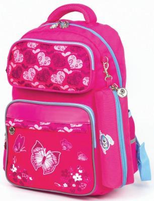Рюкзак светоотражающие материалы ЮНЛАНДИЯ Бабочки 18 л розовый рюкзак бабочки