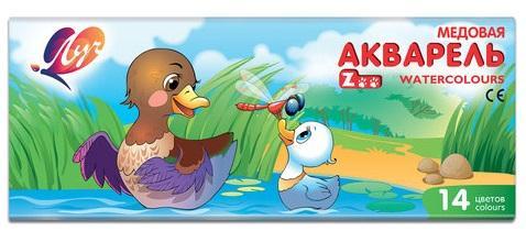 цена на Краски акварельные ЛУЧ Zoo 14 цветов